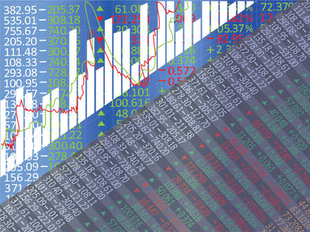 stock market graph: Stock Market Graph and Bar Chart