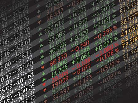 Weergave van aandelenkoersen in China.