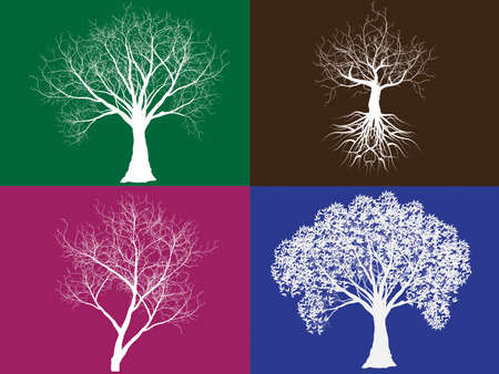 Collection trees. Vector illustration
