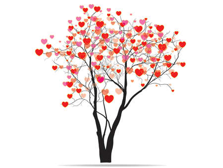 Baum der Herzen Vektorgrafik
