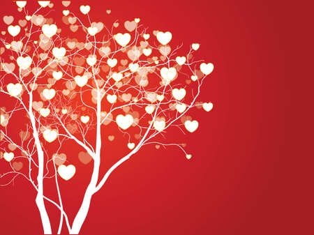 Trees of love for your design Illustration