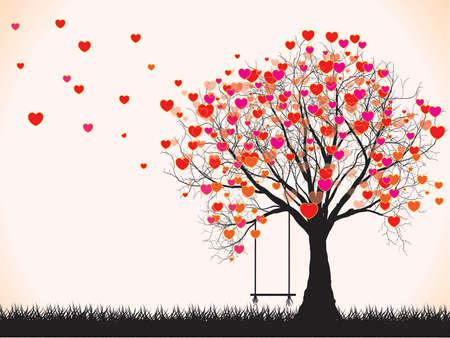 Baum in der Form von Herzen, Valentinstag Hintergrund