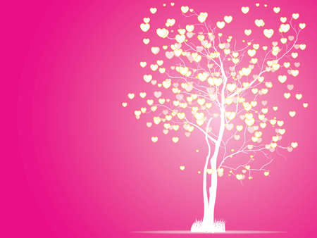 valentine tree: Valentine tree, love, leaf from hearts