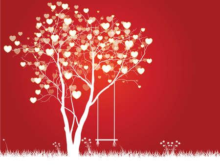 Vector hartenboom Stock Illustratie