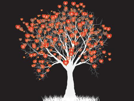 true love: Love tree in the shape of heart