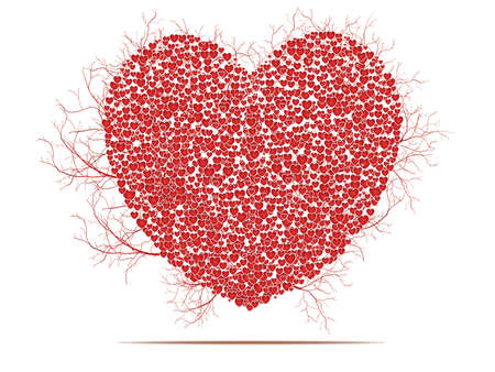 Valentines composition of the hearts.
