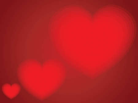 valentines: red hearts as background Illustration