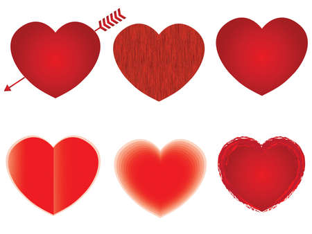 Heart shape design template collection. Happy Valentine