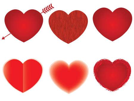 labirinth: Heart shape design template collection. Happy Valentine