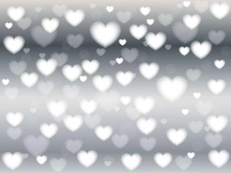 blinking: Holiday abstracta resplandeciente fondo borroso, bokeh. Desenfocado luces parpadeantes en forma de coraz�n, vintage tonificados. Valentine Hearts Resumen Antecedentes. San Valent�n
