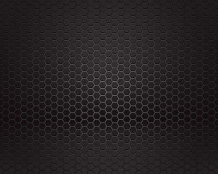 Black background of hexagonal pattern texture