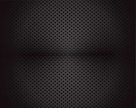 texture cloth: Black background of circle pattern texture Illustration