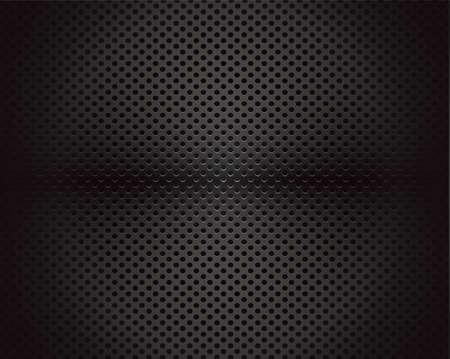 fibra de carbono: Fondo negro del círculo patrón de textura