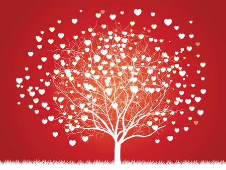 Trees of love for your design Ilustracja