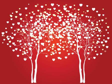 Los árboles de amor para su diseño Foto de archivo - 39781749