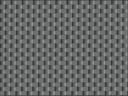 Carbon fiber, bound crosswise fibers, vector graphics.