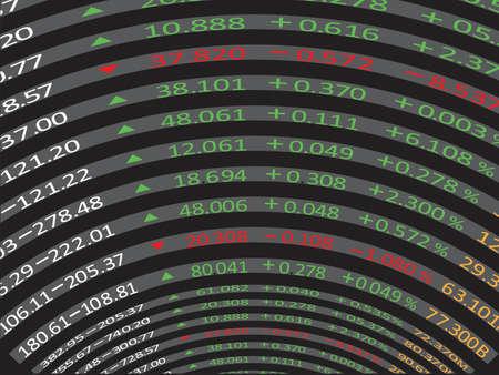 dow: Stock exchange display panel