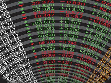 nasdaq: Stock exchange market display panel