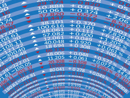 Digital Stock exchange panel