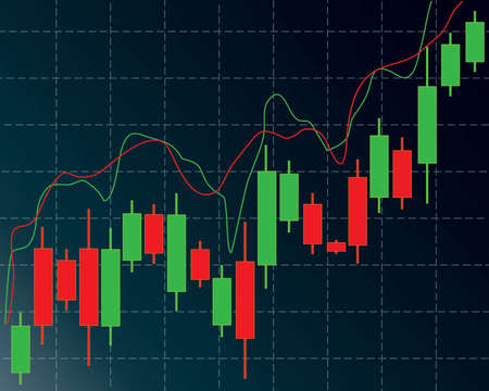 candlestick: candlestick trading chart in forex and day trading stock market analysis