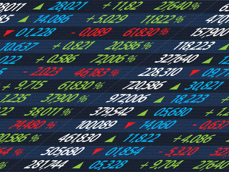 capitalism: Display of Stock market quotes