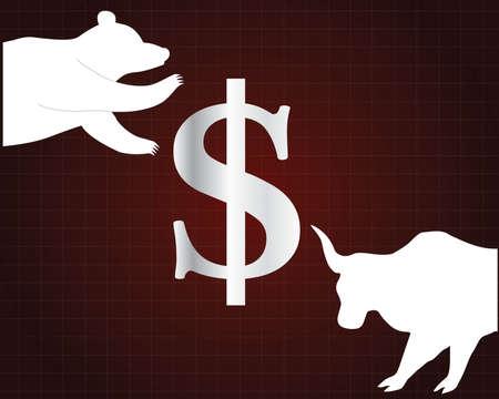 stock trader: stock market symbol Illustration