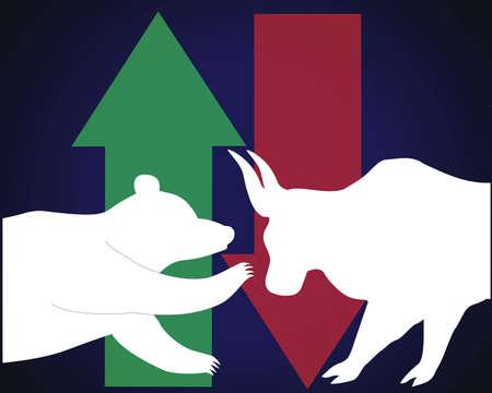 trafficking: stock market symbol Illustration