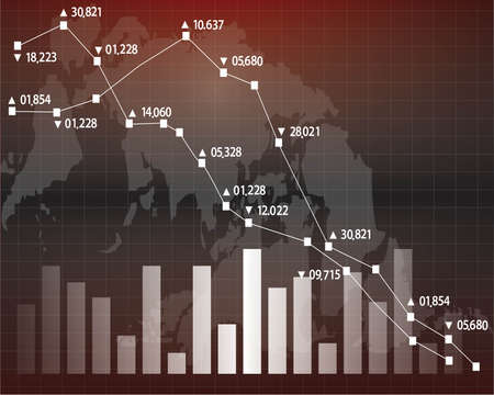 graphs and charts: Stock exchange chart graph. Illustration