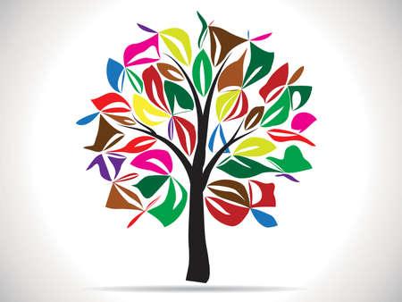 stylized tree: Colorful stylized tree Stock Photo