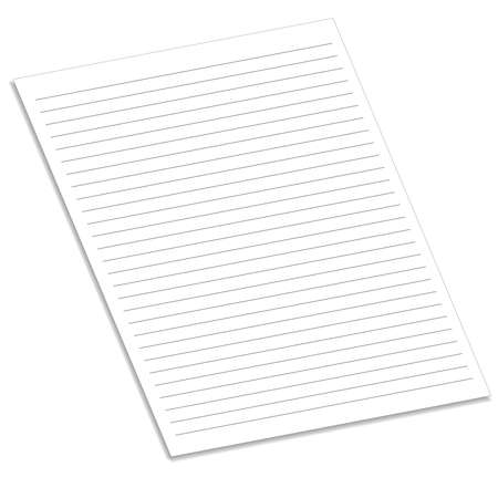 notebook paper: Notebook paper with lines Illustration