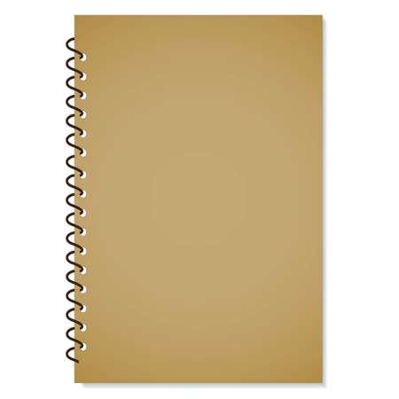 memo pad: Notebook With Metal Binder Vector