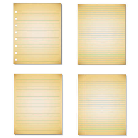 memo pad: Set Notebook paper background