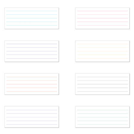 memo pad: Collection of various white papers, ready for your message. Vector illustration.