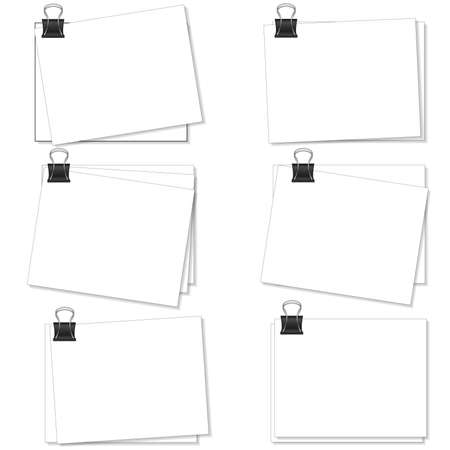 memo pad: Note paper and clips, blank for information