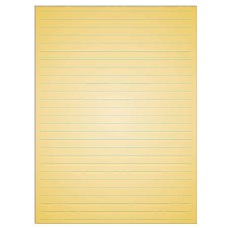 ruled paper: School notebook paper sheet. Exercise book page background. Lined notepad backdrop