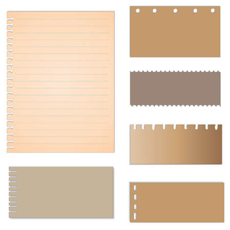 memo pad: set of paper designs. paper sheets, lined paper and note paper