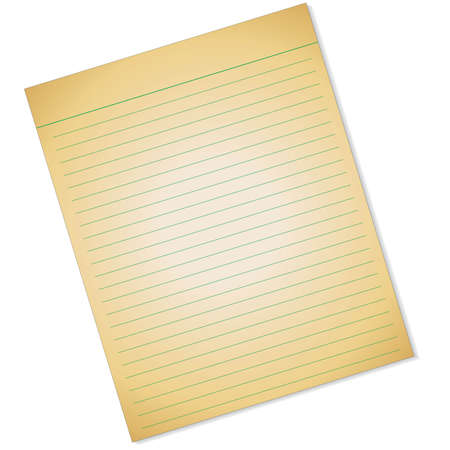 holes: Yellow lined paper with holes