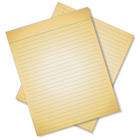 memo pad: Old lined paper texture