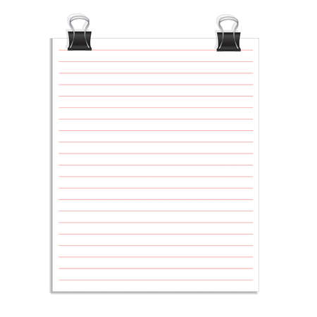 memo pad: Vector  note papers with paper clip