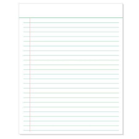 lined paper: Sheet of Lined Paper  with paper clip template