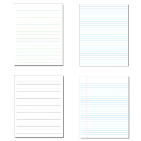 lined paper: Set sheet of Lined Paper.
