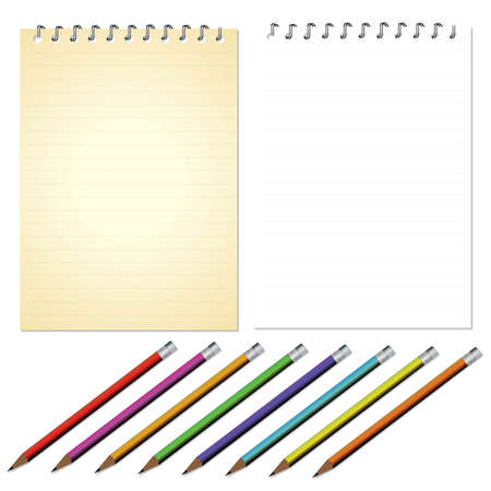 memo pad: Vector Note Paper Illustration
