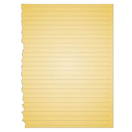 memo pad: A simple vector yellow note pad page torn