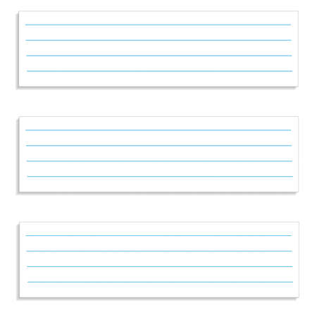 memo pad: Note paper, ready for your message. Vector illustration.