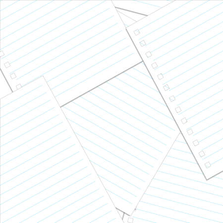 memo pad: Various white papers, ready for your message. Vector illustration. Illustration