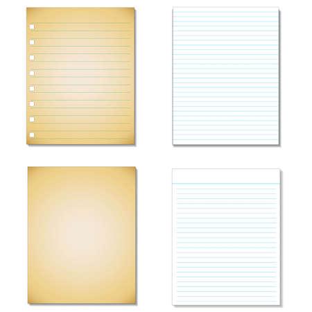 notebook paper background: Set Notebook paper background