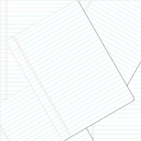 notebook: Notebook paper background.