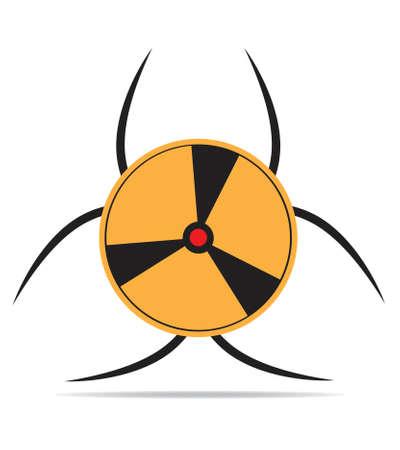Nuclear symbol isolated on white background Ilustracja