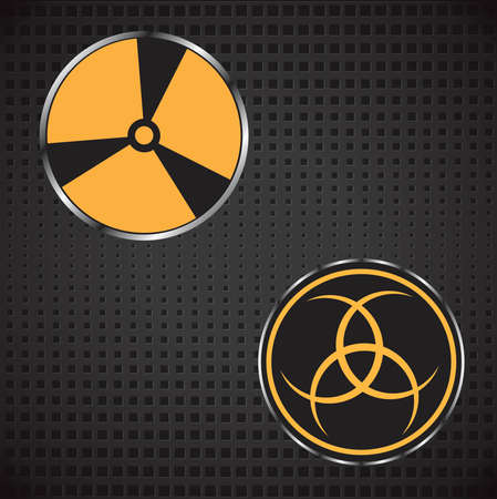 Nuclear sign. Vector illustration on a metal background Stockfoto - 108602185