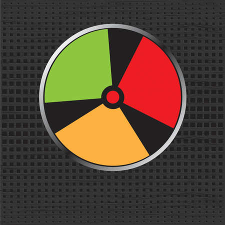 A vector illustration of a radiation warning signe. your for text. Zdjęcie Seryjne - 108602725